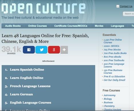 open_culture_languages_online