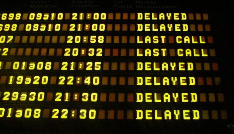 Flight Disruptions Airport Status Board