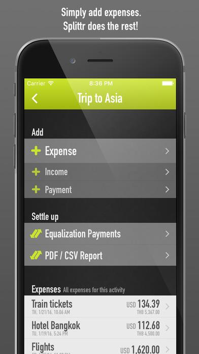 Splittr AirHelp App
