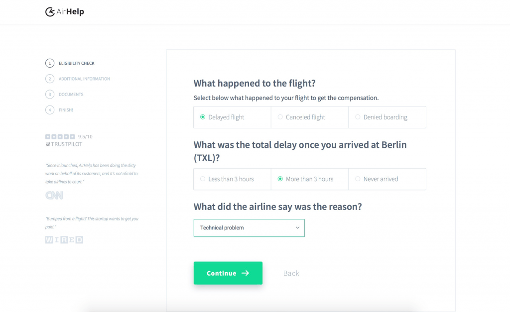 How AirHelp helps customers who have experienced travel trouble
