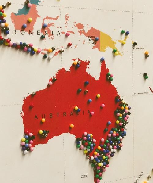 mappemonde des destinations visitées