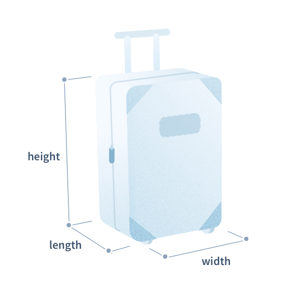 Baggage Allowance and Standard Luggage Sizes with Dimensions