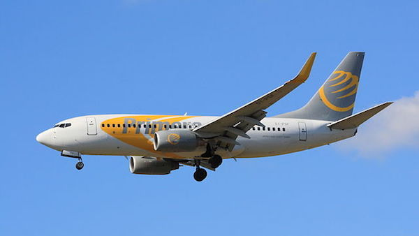 Primera Air plane in flight