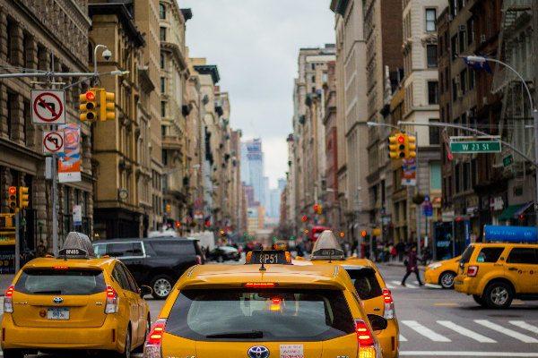 Taxi pour aller à Manhattan