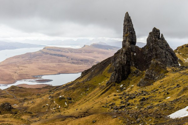 vista dell Old Man of Storr