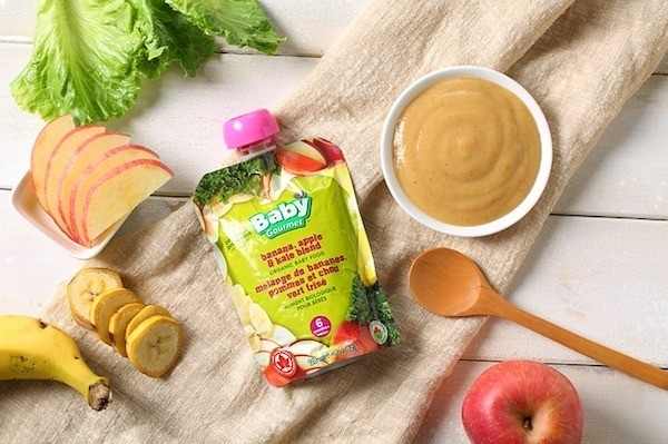 Baby food, juice, and fruit.