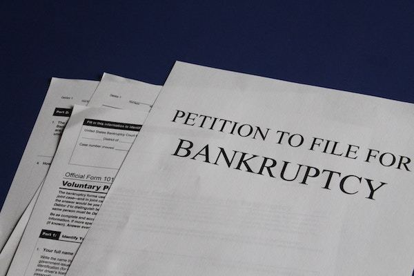 Petición para declararse en bancarrota