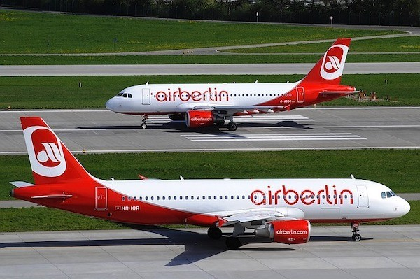Air Berlin Planes on a runway