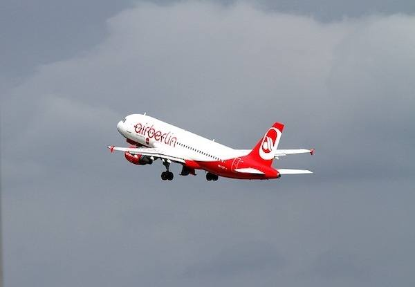 Air Berlin aircraft departs