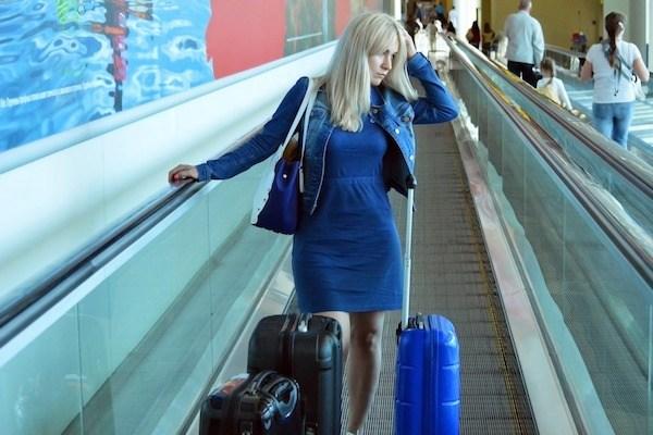 Stressed traveler