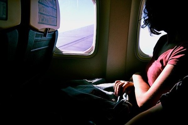 Plane window seat
