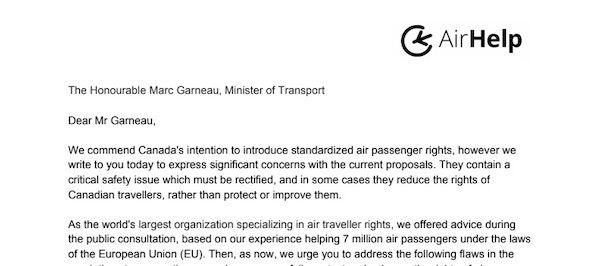 Lettre ouverte au Ministre des Transports Canadien, l'honorable Marc Gameau