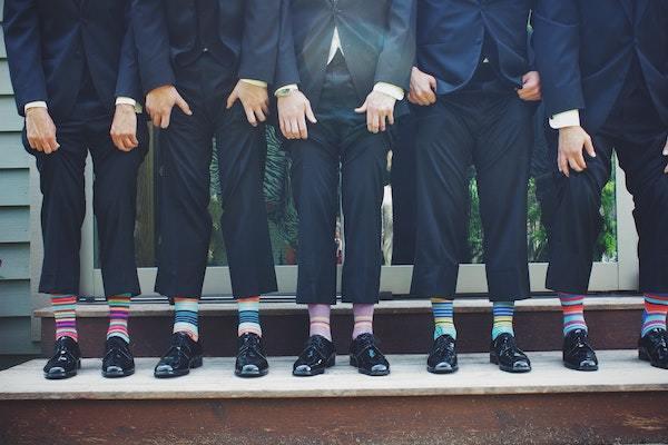 Menn med sokker