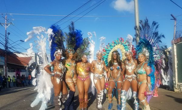 group in costume at carnival