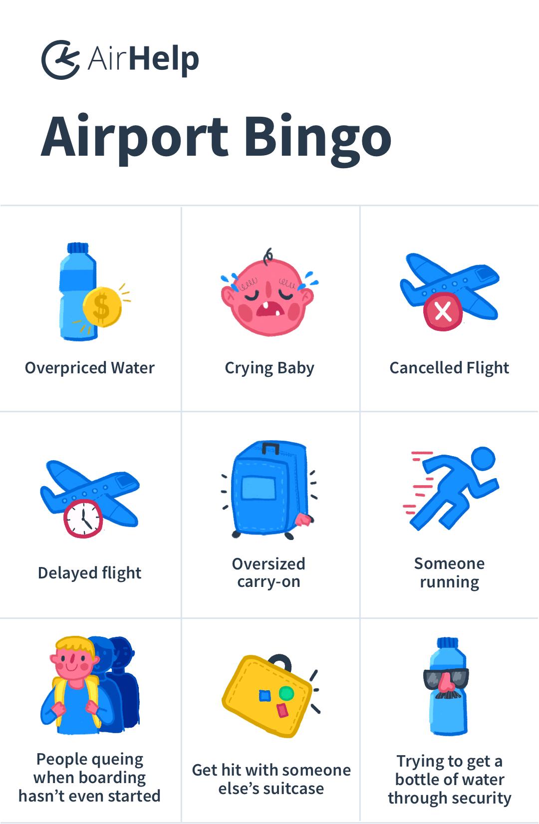 AirHelp airport bingo card