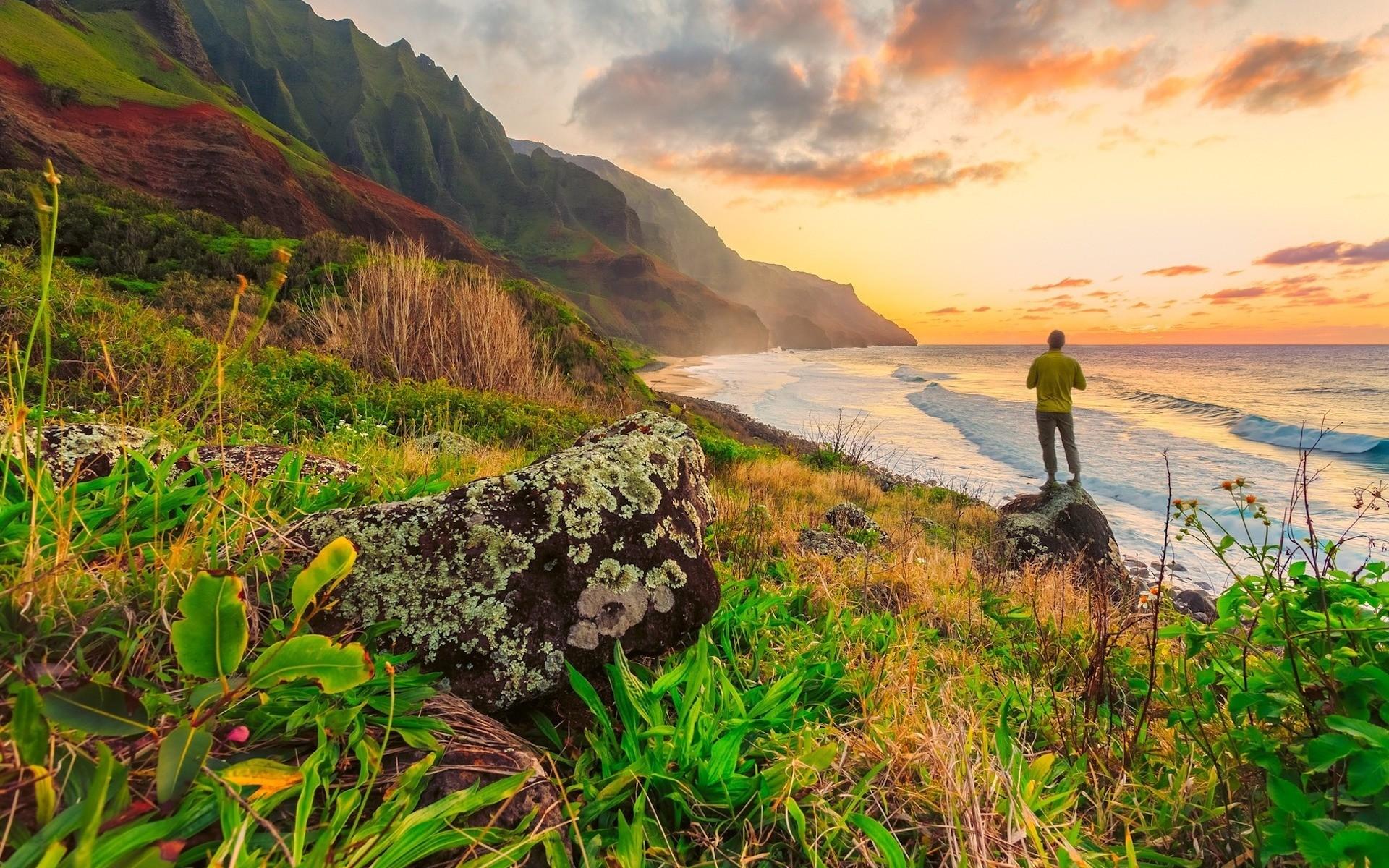 Solo travel at Hawaii Beach