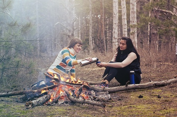 Women by the campfire