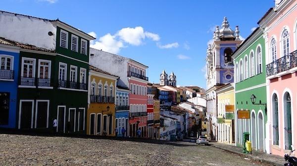 Street in Salvador, Brazil