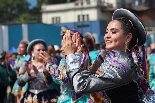 Dancers in Lima, Peru