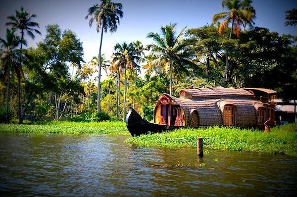 House boat in Alleppey, Kerala