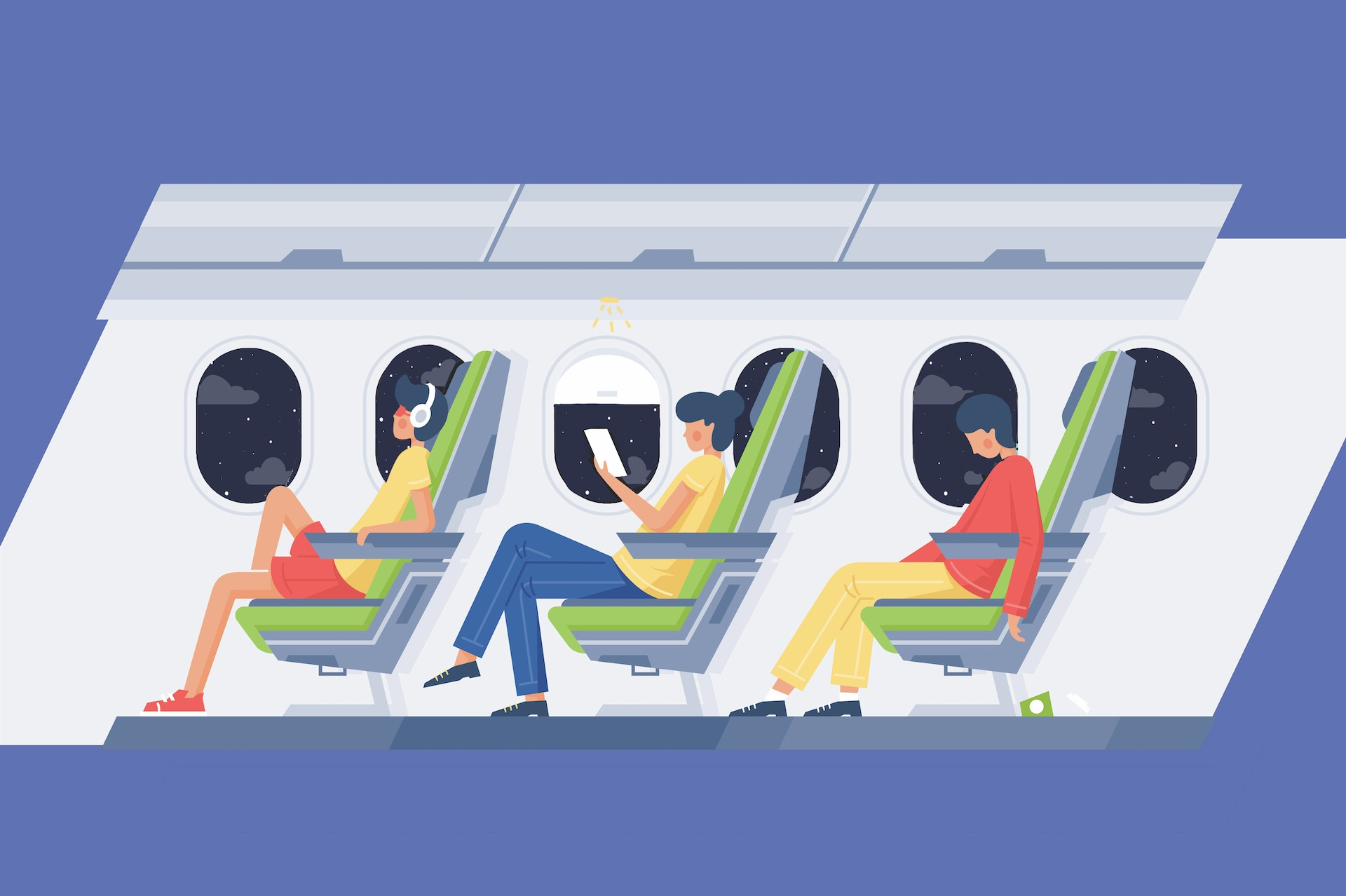red-eye flight tips