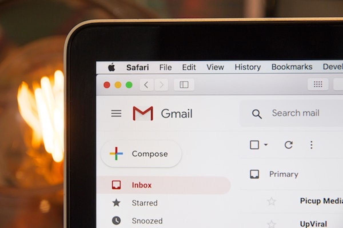 gmail inbox search on laptop